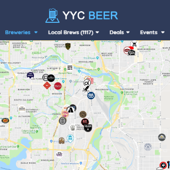 Map Of Texas Breweries.Calgary Beer Map Boiling Oar Brewing Company On Yyc Beer